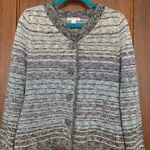 Pendleton cardigan with large accent buttons.